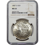 1887-O Ngc MS63 Morgan Dollar