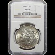 1896-O Ngc MS63 Morgan Dollar
