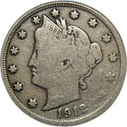 1912-S Icg F12 Liberty Nickel
