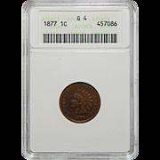 1877 Anacs G4BN Indian Head Cent