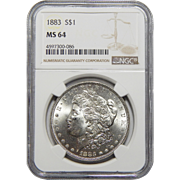 1883 Ngc MS64 Morgan Dollar