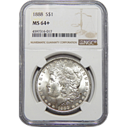 1888 Ngc MS64+ Morgan Dollar
