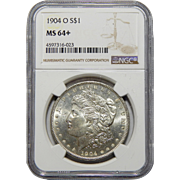 1904-O Ngc MS64+ Morgan Dollar