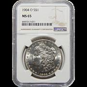1904-O Ngc MS65 Morgan Dollar