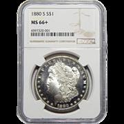 1880-S Ngc MS66+ Morgan Dollar