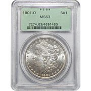 1901-O Pcgs MS63 Morgan Dollar