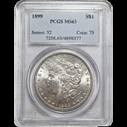 1899 Pcgs MS63 Morgan Dollar
