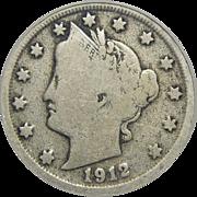 1912-S Icg VG8 Liberty Nickel