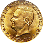 1917 Pcgs MS65 $1 McKinley Gold