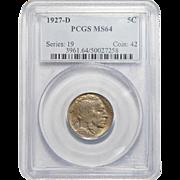 1927-D Pcgs MS64 Buffalo Nickel