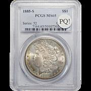1885-S Pcgs MS65 PQ! Morgan Dollar