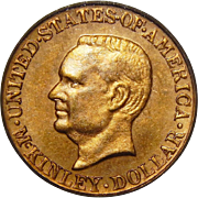 1917 Pcgs MS64 $1 McKinley Gold