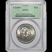 1936 Pcgs MS63 Albany Half Dollar