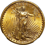 1922 Ngc MS65 $20 St. Gaudens Gold