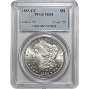 1885-CC Pcgs MS64 Morgan Dollar