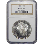 1882-S Ngc MS64DPL Morgan Dollar