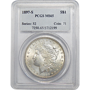 1897-S Pcgs MS65 Morgan Dollar