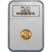 1899 Ngc MS66 $2.50 Liberty Head Gold