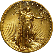 1907 Pcgs MS63 $20 High Relief-Wire Edge St. Gaudens Gold