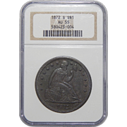 1872-S Ngc AU55 Liberty Seated Dollar