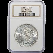 1891 Ngc MS64 Morgan Dollar