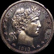 1913 Ngc PF65 Barber Half Dollar