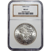 1894-S Ngc MS65 Morgan Dollar