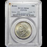 1935/34 Pcgs MS66 Boone Half Dollar