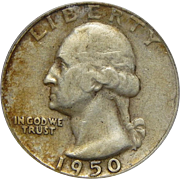 1950-D/S Icg VF30 Washington Quarter