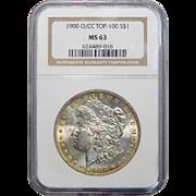 1900-O/CC Ngc MS63 Top-100 Morgan Dollar