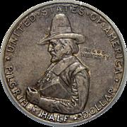 1920 Icg AU50 Pilgrim Half Dollar