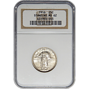 1916 Ngc MS62 Standing Liberty Quarter