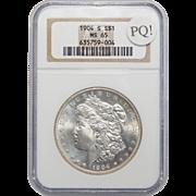 1904-S Ngc PQ! MS65 Morgan Dollar