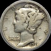 1921-D Icg VG8 Mercury Dime