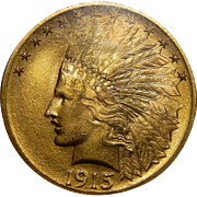 1915 Ngc MS65 $10 Indian Gold