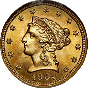 1904 Ngc MS67 $2.50 Liberty Head Gold