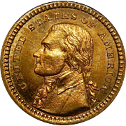 1903 Pcgs MS65 $1 Louisiana Purchase, Jefferson Gold