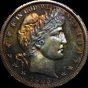 1905 Ngc PF66 Barber Half Dollar