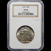 1937 Ngc PF68 Walking Liberty Half Dollar