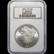 1884-CC Ngc MS65 Morgan Dollar