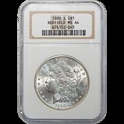 1890-S Ngc MS64 Morgan Dollar