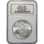 1889-S Ngc MS64 (Redfield Collection) Morgan Dollar