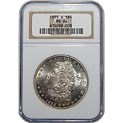 1895-S Ngc MS64 Morgan Dollar
