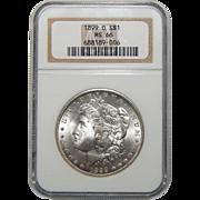 1899-O Ngc MS66 Morgan Dollar