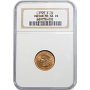 1909-S Ngc MS66RB Indian Head Cent