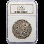1895-O Ngc VF25 Morgan Dollar