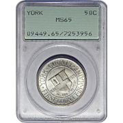 1936 Pcgs Rattler MS65 York Half Dollar