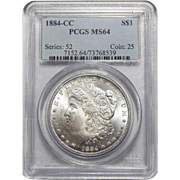 1884-CC Pcgs MS64 Morgan Dollar