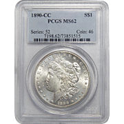 1890-CC Pcgs MS62 Morgan Dollar
