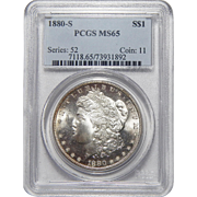 1880-S Pcgs MS65 Morgan Dollar